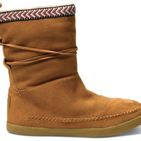 Chestnut Suede Trim Women's Nepal Boots US