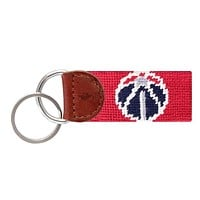 Washington Wizards Needlepoint Key Fob in Red by Smathers & Branson