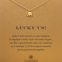 """Dogeared Lucky Us Necklace, 18"""" 