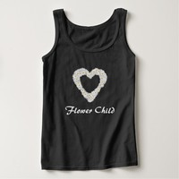 Daisies Floral Wreath Flower Child Tank Top