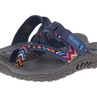 Skechers Womens ReggaeZig Swag Sandals FlipFlop
