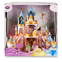 Disney Store Light-Up Castle Play Set with 6 Princess New with Box