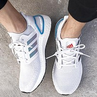Onewel Adidas Ultra Boost 20 cushioning running shoes UB6.0 Grey White