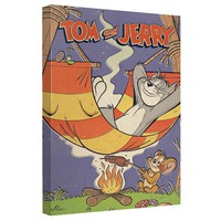 Tom And Jerry - Rest And Relaxation Canvas Wall Art With Back Board