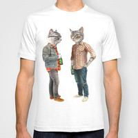A Cats Night Out T-shirt by Florever | Society6
