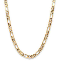 """Men's Figaro-Link Chain in Yellow Gold Tone 30"""" on PalmBeach Jewelry"""