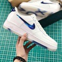 Playstation X Nike Air Force 1 Low Qs White Blue Sport Shoes - Best Online Sale