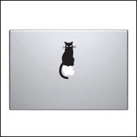 Decal for Macbook Pro Sticker Vinyl cat pussy skin funny fun mac 13 15 11 kitty