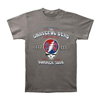 Grateful Dead Men's  Summer Tour 87 T-shirt Grey