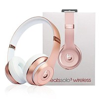 Beats Solo 3 Wireless Magic Sound Bluetooth Wireless Hands Headset MP3 Music Headphone with Microphone Line-in Socket TF Card Slot I
