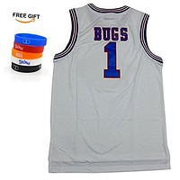 Bugs 1 Space Jam jersey Basketball Jersey Include Free Wristbands