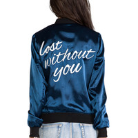 Lovers + Friends X 4th and Bleeker Exclusive Bomber in Navy
