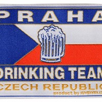 Praha Drinking Team embroidered textile patch