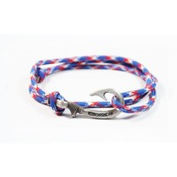 Adjustable Fish Hook Bracelet - Red, White & Blue
