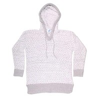 The Stockholm Popcorn Sweater in Grey by Nordic Fleece
