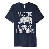 SAVE THE CHUBBY UNICORNS Animal Rights Protest T-Shirt
