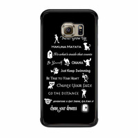 Disney Lessons Learned Mashup Samsung Galaxy S6 Edge Case