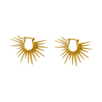 Playing by Ear Rays Huggie Earrings, Gold Plated | Dogeared