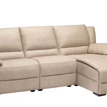Genoa Reclining Leather Chaise Sectional by Natuzzi Editions--Power Option Available