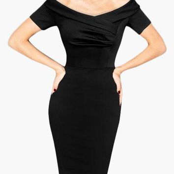 Black 1950's Wiggle Dress in the style of....