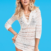 Hooded Crochet Cover-up Sweater - Victoria's Secret