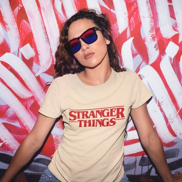 Stranger Things Logo Shirt for Women