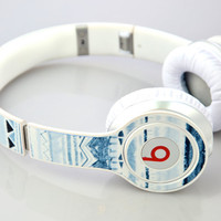 Custom Beats Skins For Solo or Studio Headphones by Dr Dre Skin Tribal Design