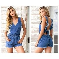 Mapale 5749 Romper Color Blue Chambray