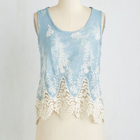 Boho Short Length Sleeveless Paddle Boat Race Top by ModCloth