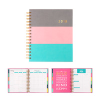 2018 Color Block Planner - Gray/Pink/Mint