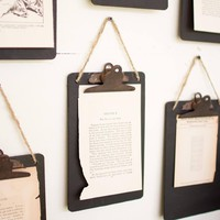 Rustic Black Clipboard ~ Photo/Note Holder (Set of 6)