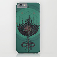 Black Dahlia iPhone & iPod Case by Hector Mansilla