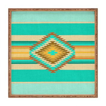 Bianca Green Fiesta Teal Square Tray