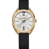 CHAUMET - W2301102A Liens 18ct yellow-gold, diamond and leather watch | Selfridges.com