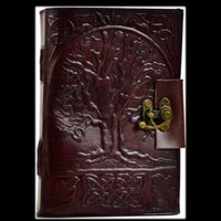 Tree of Life Genuine Leather Blank Journal with Latch