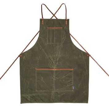 Journeyman Lightweight Cross-Back Waxed Canvas Apron
