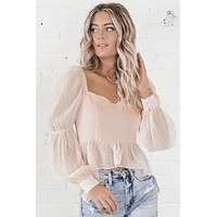 We're Just Friends Blush Top