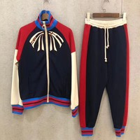 Gucci Guccify Yourself Jersey Jacket Jogging Pant Set Two-Piece