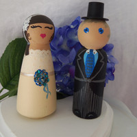 Cake Topper- Bride and Groom Custom Order Wedding Cake Topper-Traditional Morning Suit with Top Hat - Cake Topper- -Anniversary Gift