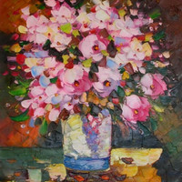 Bunch of Flowers Canvas Wall Art