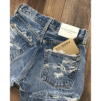 High Waisted Butt Cheek Vintage Blogger Jeans