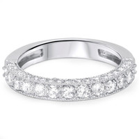 1.15CT Diamond Vintage Heirloom Ring 14K White Gold