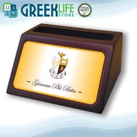 Gamma Phi Beta Wooden Card Holder