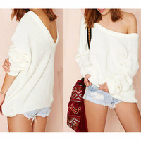 DEEP-V BACKLESS Fashion SWEATER