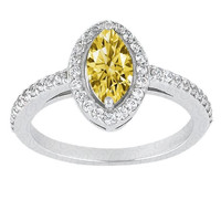 1.41 CT. Marquise yellow canary diamond wedding anniversary ring gold 14K