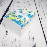 MADE ON ORDER Decoupage wooden trinket box bridesmaid gift personalised blue flowers nots wedding decoupage small box gift for her