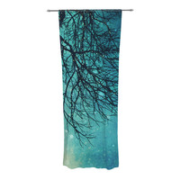 "Sylvia Cook ""Winter Moon"" Decorative Sheer Curtain"
