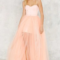 Nasty Gal Blush Hour Tulle Dress