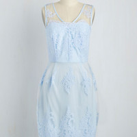 Outstanding on Ceremony Dress in Sky | Mod Retro Vintage Dresses | ModCloth.com
