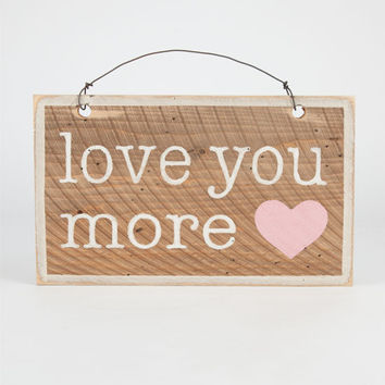 Love You More Sign Brown Combo One Size For Women 24845944901